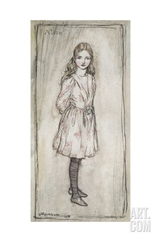 Alice Giclee Print by Arthur Rackham at Art.com