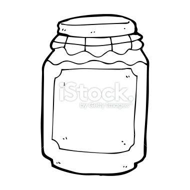 Cartoon Jar Of Jam Jar Of Jam Vector Art Illustration Jar