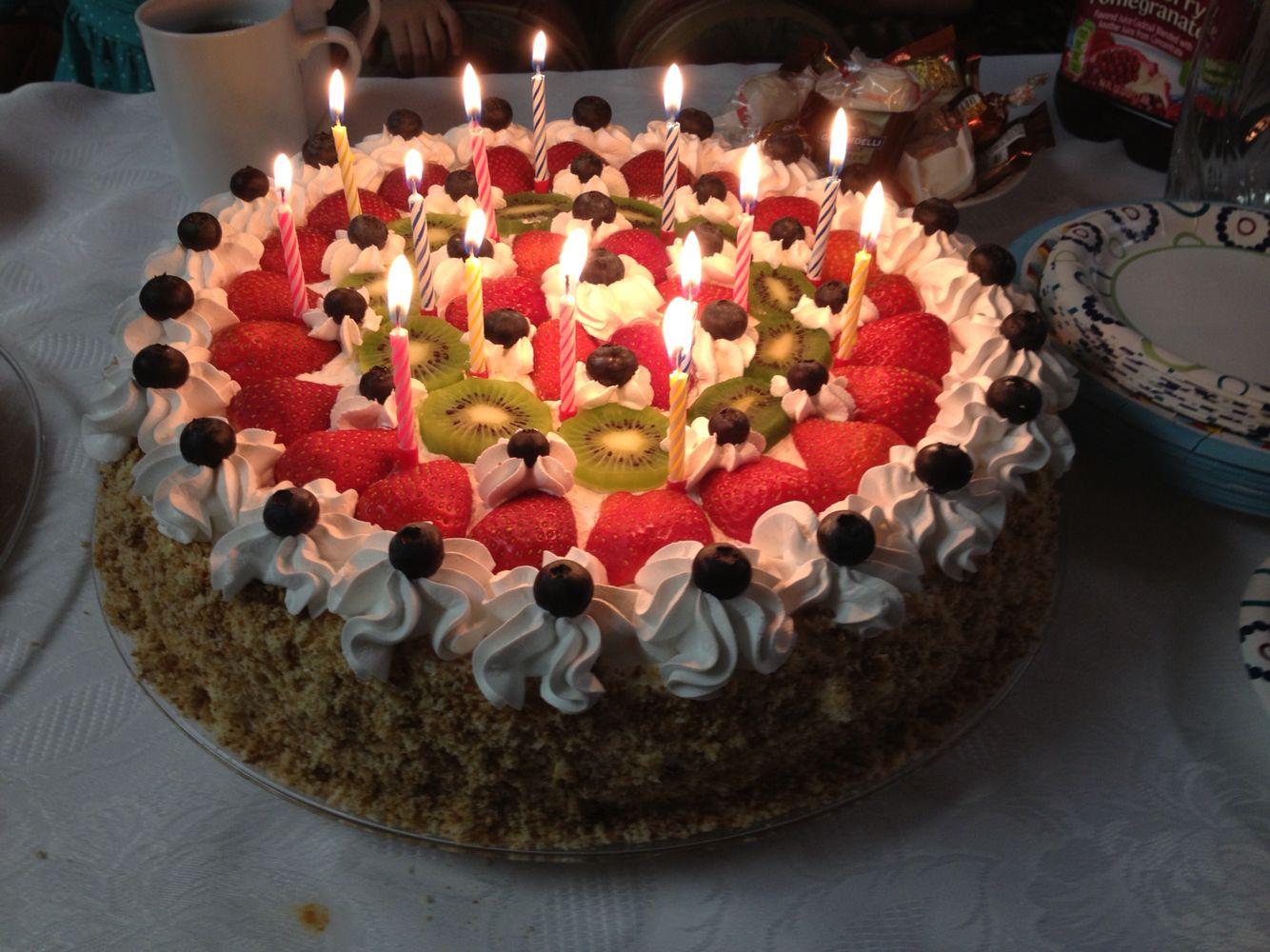 Very Tasty Birthday Cake My Favorite Actually Its Homemade