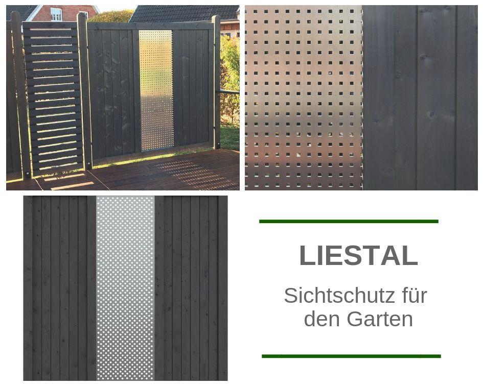 Sichtschutzzaun mit Lochblech 180x180 LIESTAL Starker Zaun