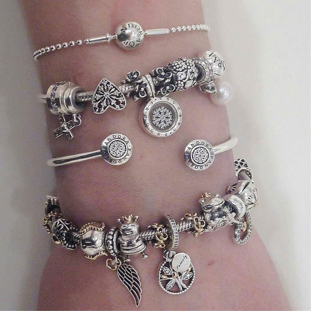 Jewelry Box For Pandora Charms: #Repost @pandorachinook Bracelets On Bracelets #Pandora