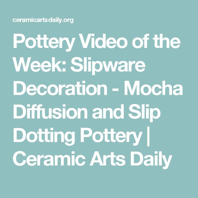Mocha Diffusion And Slip Dotting Pottery Mochaware Pottery