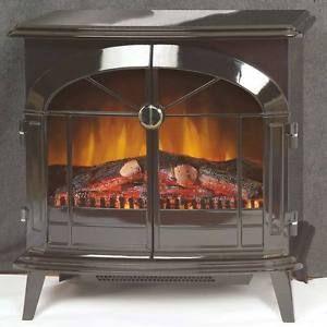 Electric Stove Fan Heater Vintage Fire