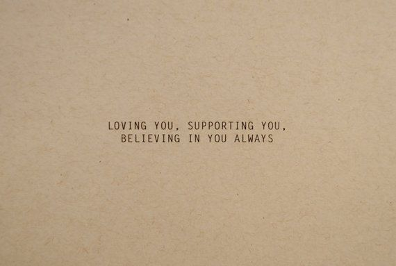 Loving Supporting Believing friendship card, birthday card for girlfriend, anniversary card for boyf