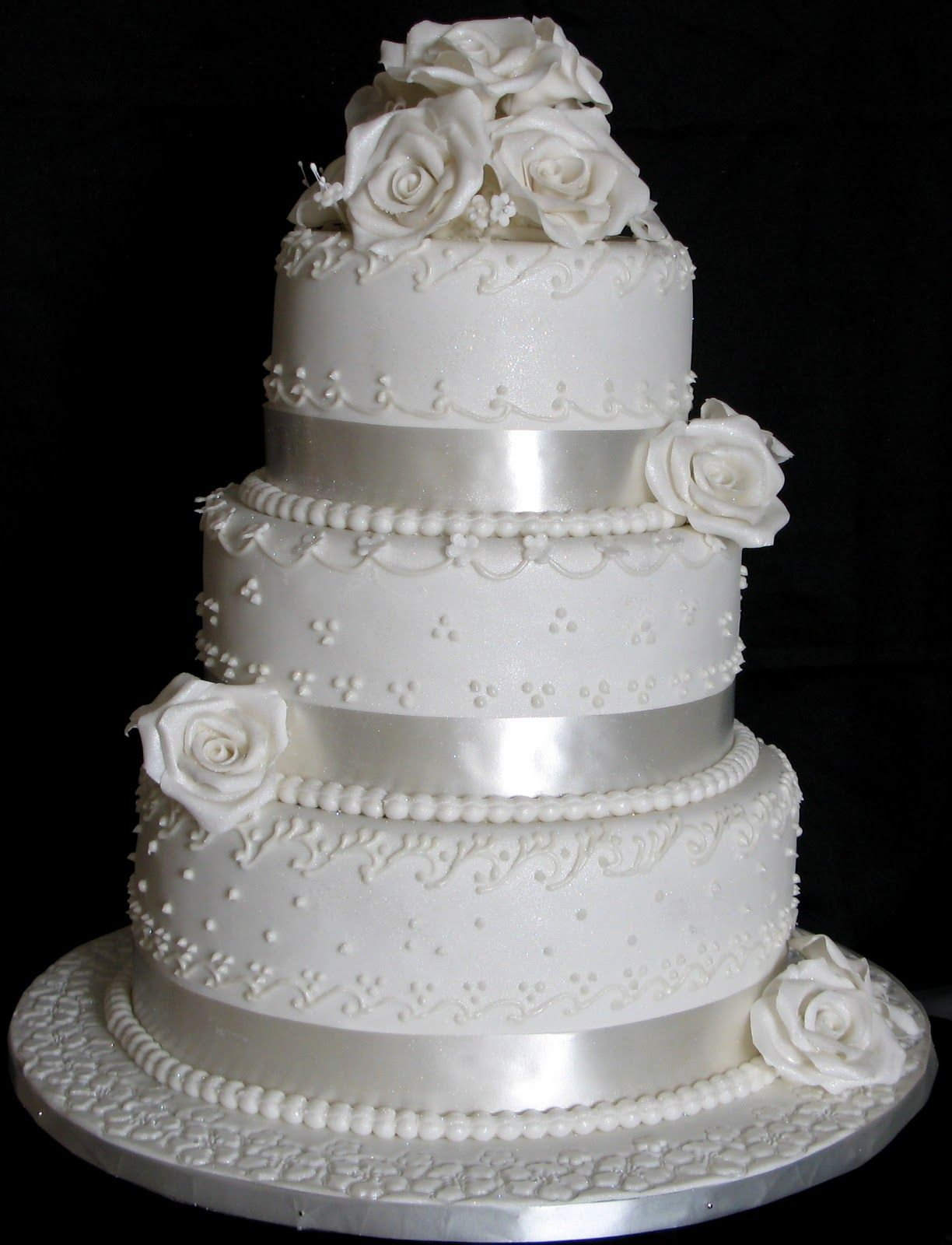 This wedding cake was made for a bride from Gaborone, whose wedding ...