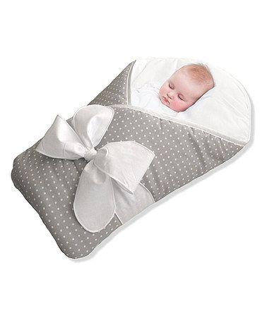 Loving this Gray Polka Dot BundleBee Baby Wrap on #zulily! #zulilyfinds