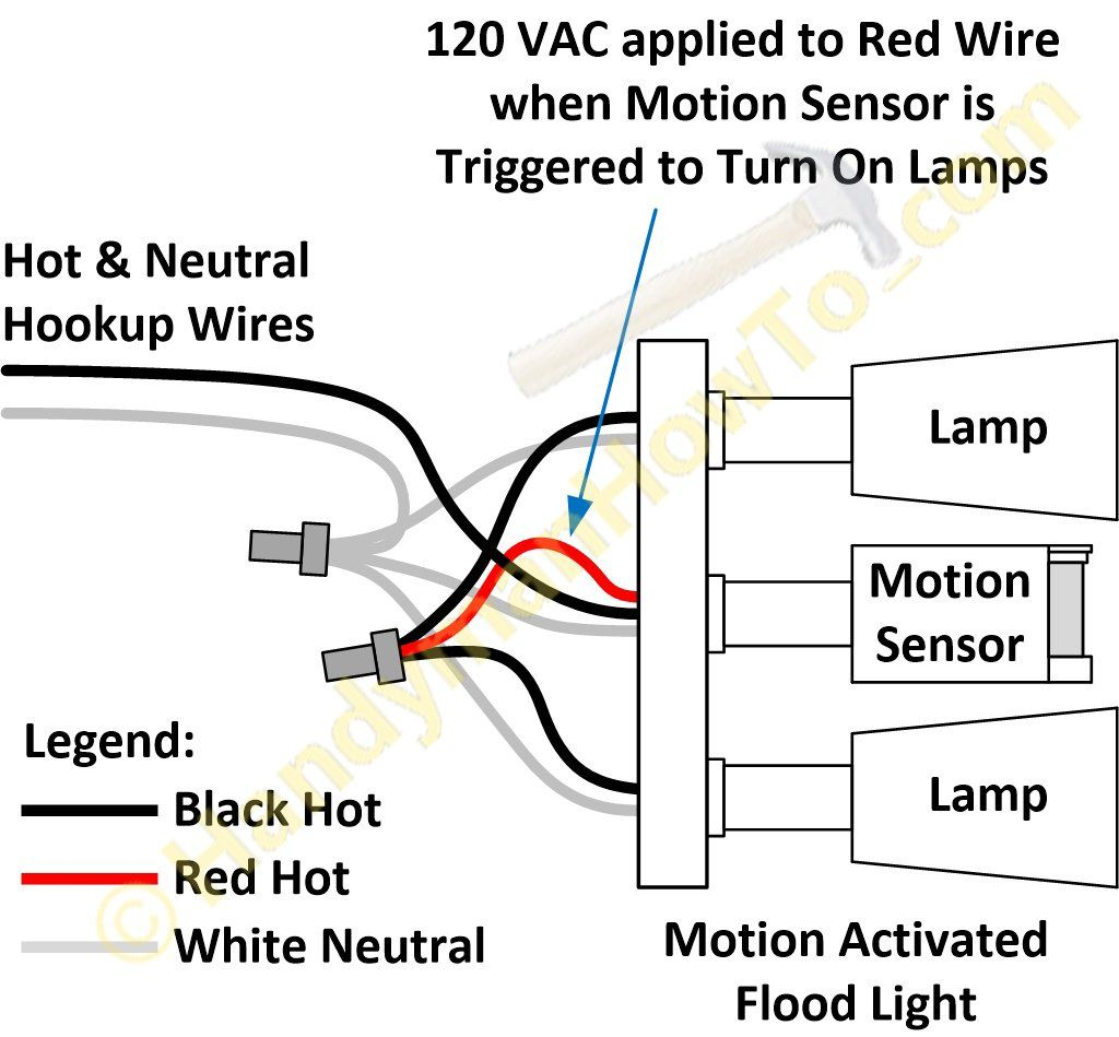 Motion Activated Floodlight Factory Wiring Diagram Jpg 1024 949 Motion Sensor Lights Motion Sensor Lights Outdoor Light Sensor