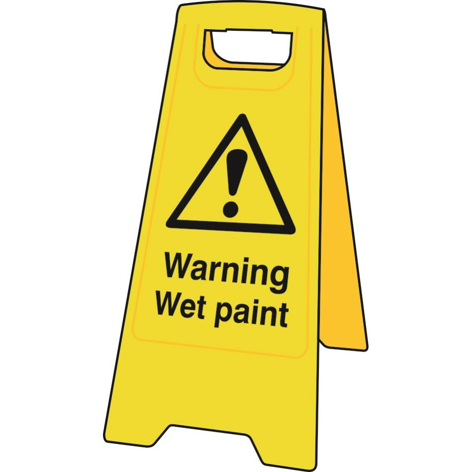Warning Wet Paint Floor Stand Sign Sign Stand Wet Floor Signs Signs