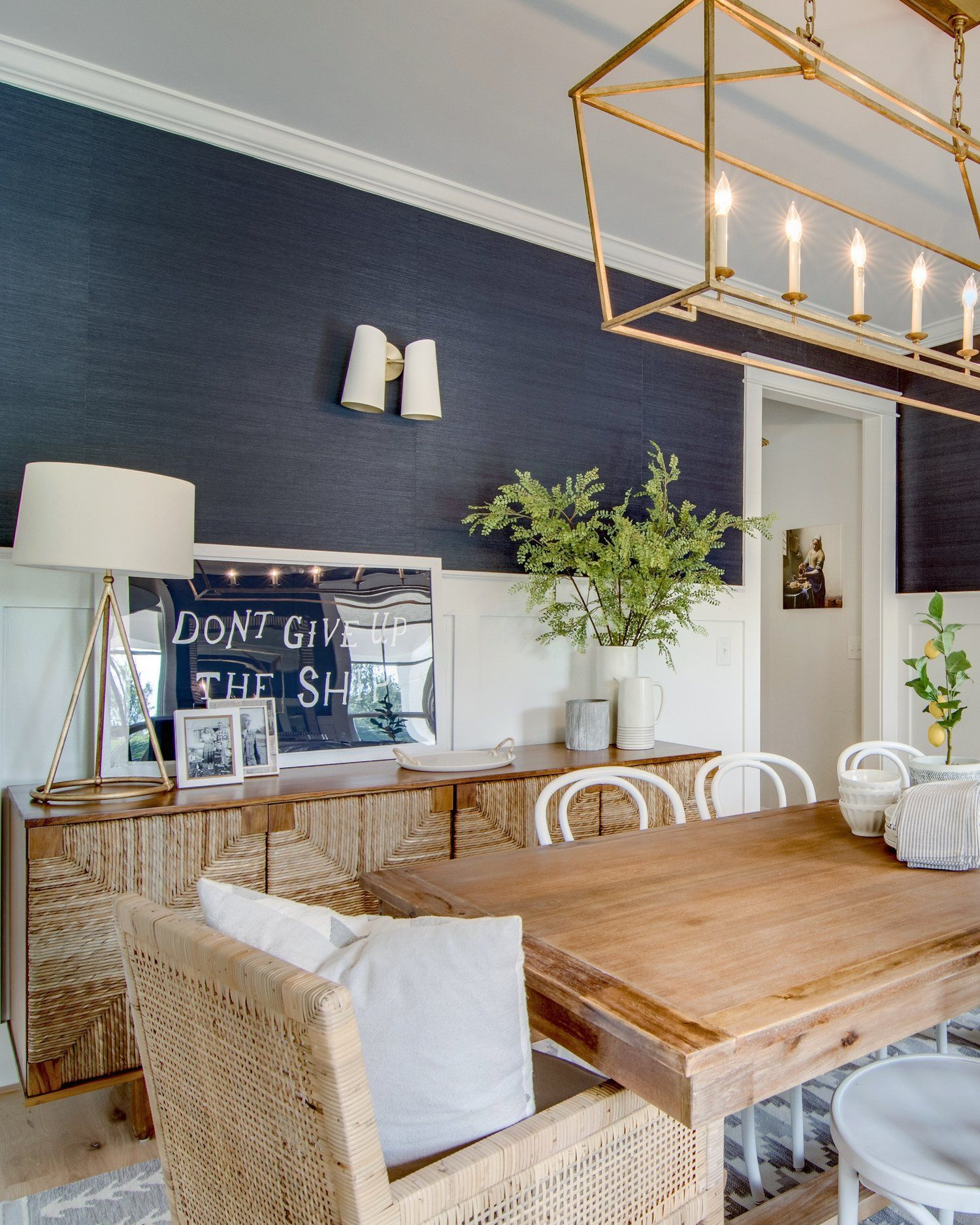 Our Navy Blue Dining Room in 2020 Coastal dining room