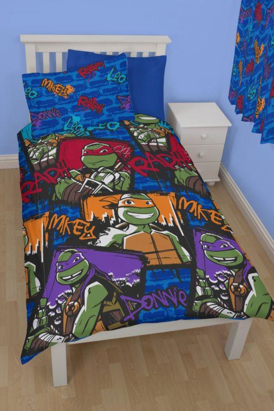 Teenage Mutant Ninja Turtles Duvet Set Single Bedding Asda Direct Duvet Sets Bed Cool Beds