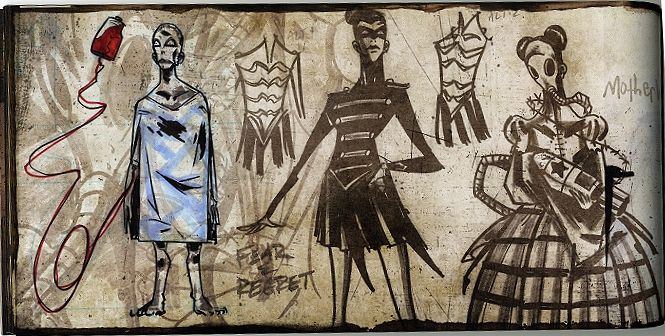 Image result for the black parade concept art