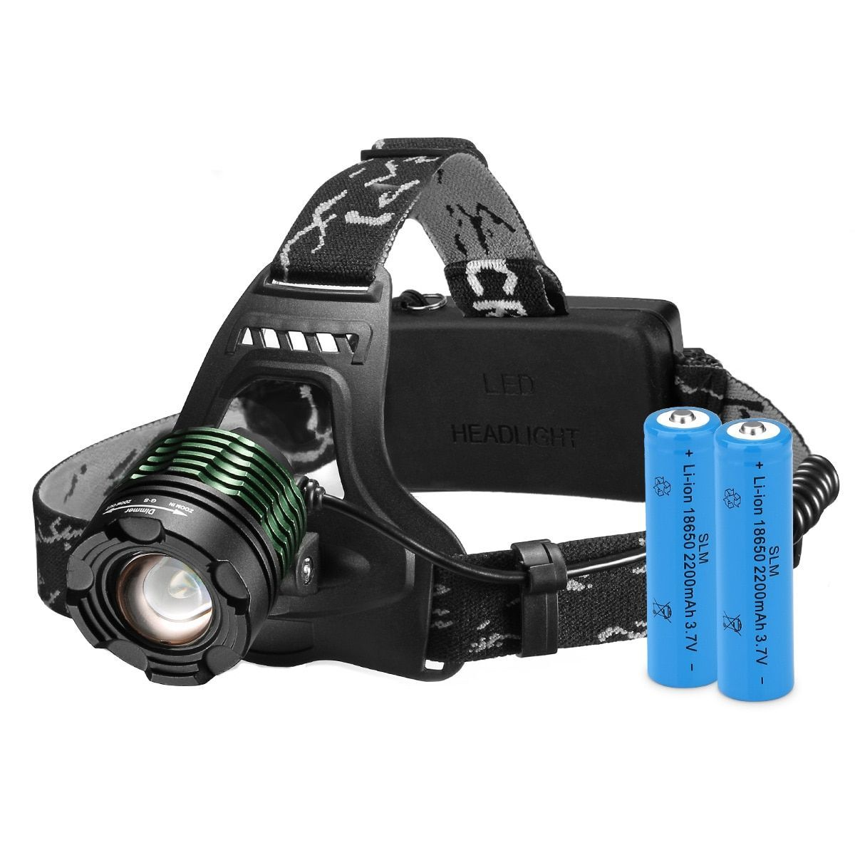 High Power Headlamp Rechargeable Led Lamp With 4 Light Modes 2