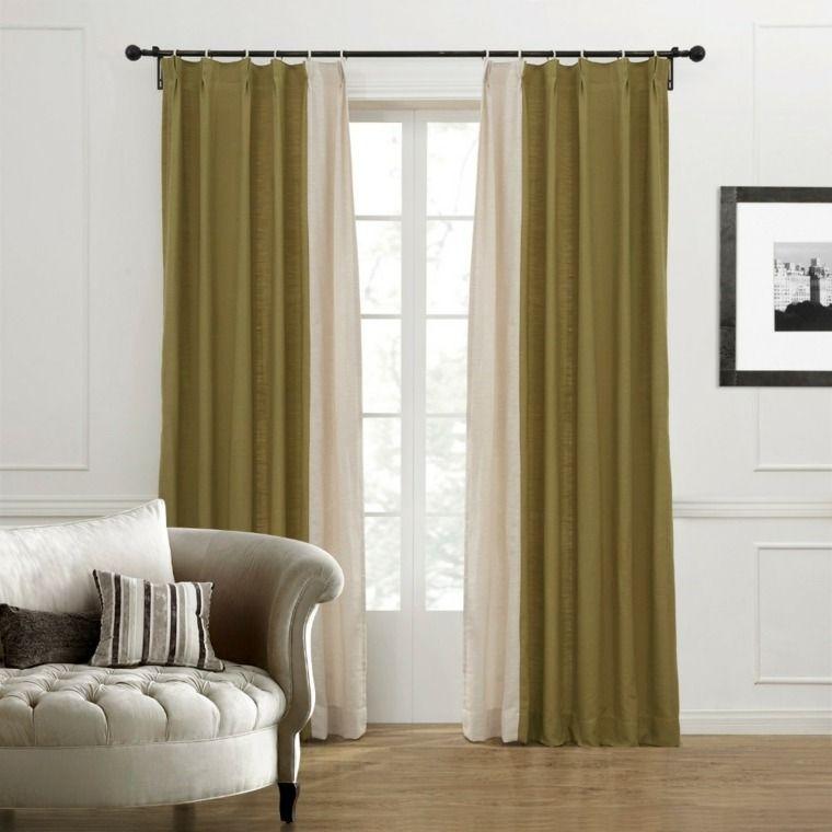 Dise o cortinas modernas salones cortinas pinterest home decor decor y brick - Visillos para salones ...