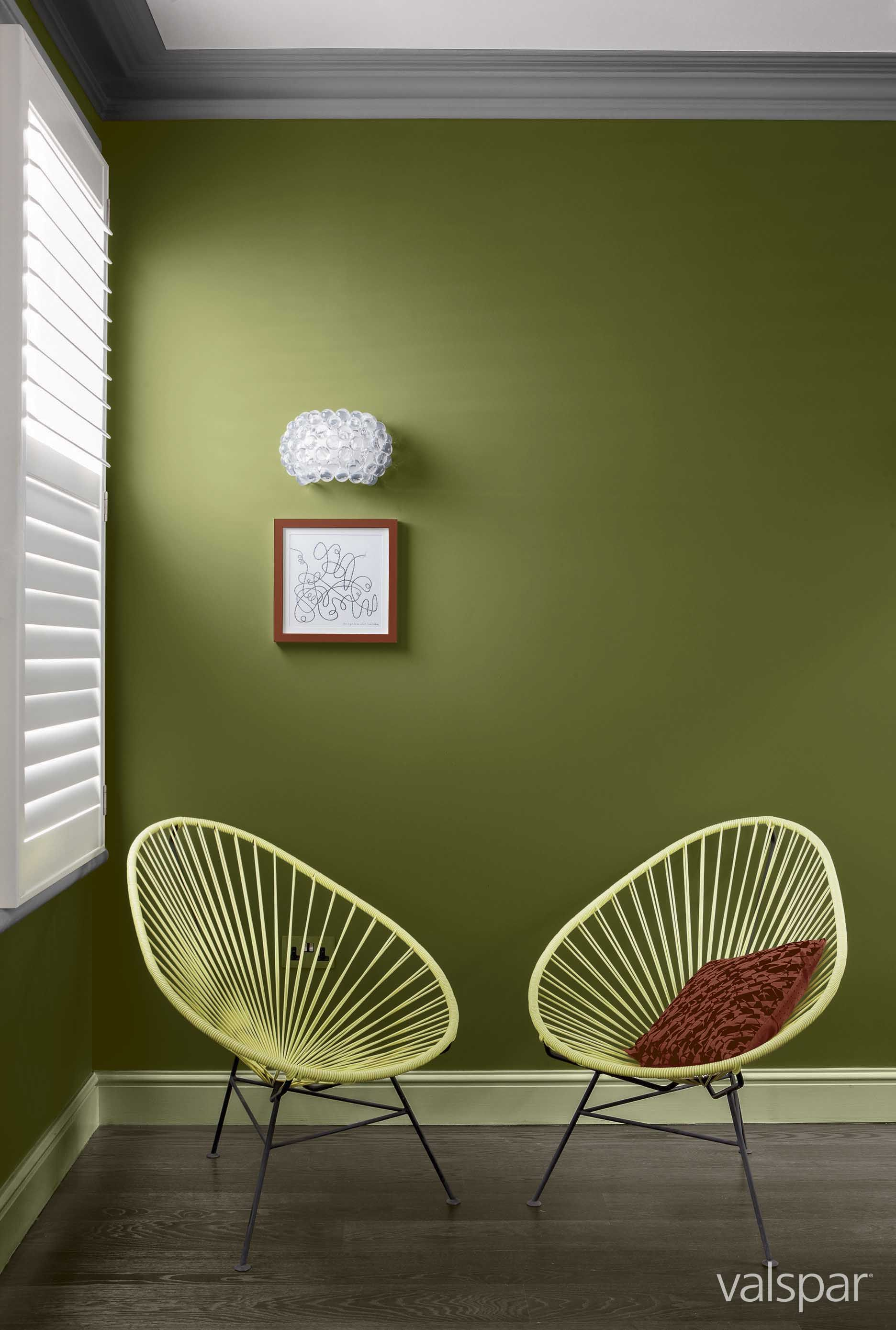 A Bold Olive Green Offset With Zesty Yellow We Love This