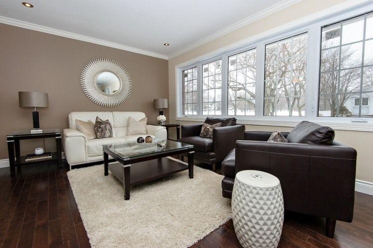 Wunderbar Wandfarbe Wohnzimmer Schwarz Weiße Möbel Wohnzimmer Schwarz Weiß Beige