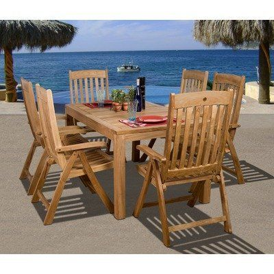 Amazonia Michigan 7 Piece Dining Set By International Home Miami 2089 00 Sc Rinja Sumpos Features Material Teak Wood Contemporary Style Bucarest Sillas