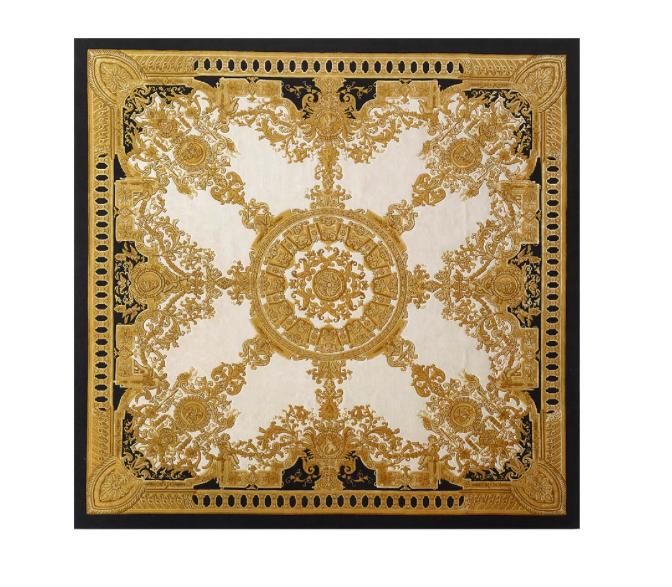 Versace Home Le Dome Baroque Gold Rug Perfect For Adding A Refined Appeal To A Space The Hand Tufted Le Dome Baroque Carpe Rugs Australia Versace Home Rugs #versace #living #room #rug