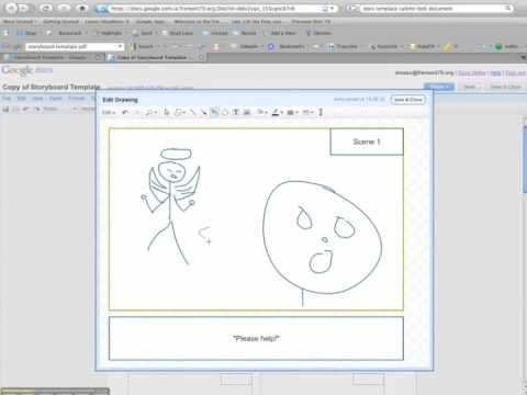 How To Use The Storyboarding Template In Google Docs For Your Videos Via Daniel Rezac Google Apps For Th Google Apps Digital Storytelling Storyboard Template