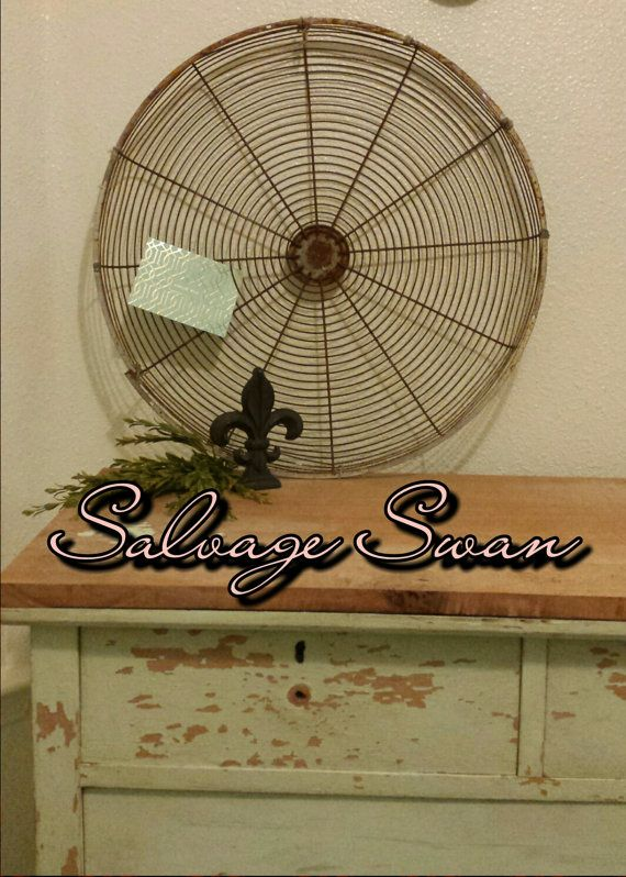 Rustic Farmhouse Wall Decor Large Industrial Fan By SalvageSwan