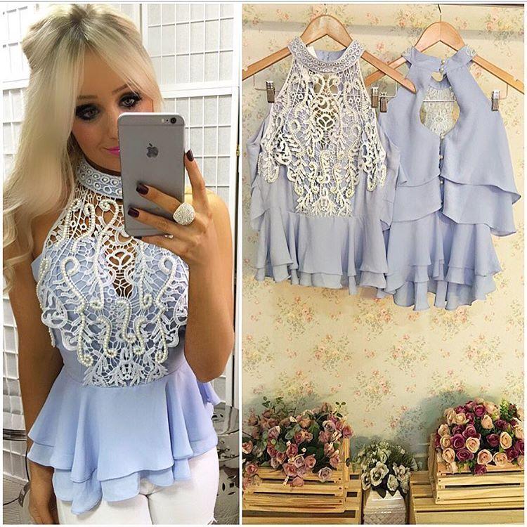 É MUITO amor por essa blusinha peplum bordada  linda DEMAIS  e essa cor???
