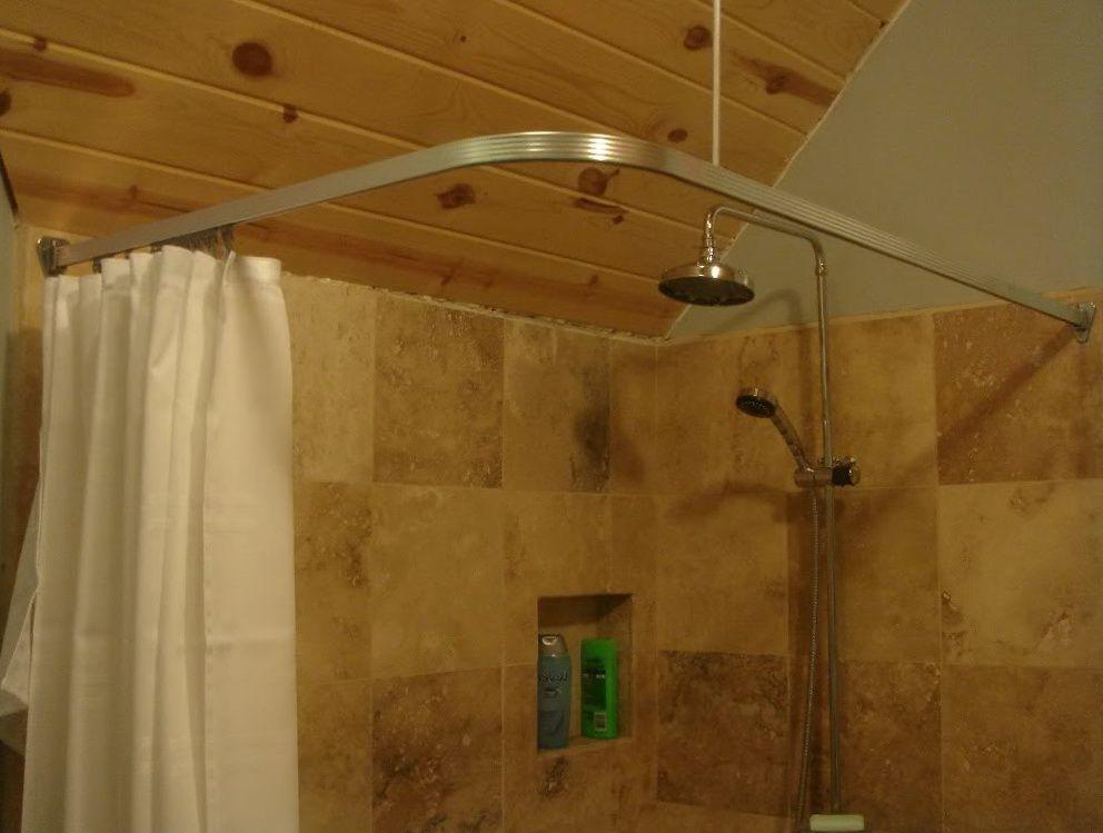 Image Result For Corner Shower Curtain Rod Corner Shower Curtain