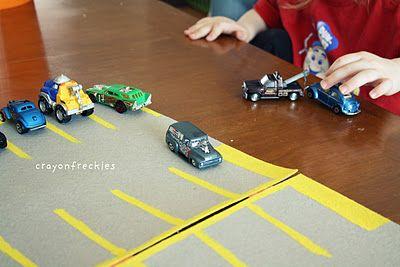 felt parking lot #crayonfreckles