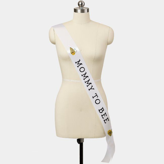 Mommy to Bee Baby Shower Sash #baby #shower #mommy #to #bee #Sash #bees #insects #products #beethemedproducts #beetheme