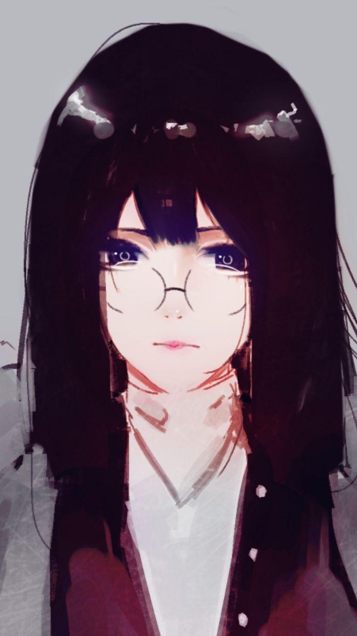 Cute girl long hair glasses art wallpaper girls pinterest