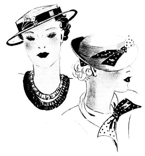 chapeaux des ann es 1930 1930 1939 hats hair styles. Black Bedroom Furniture Sets. Home Design Ideas