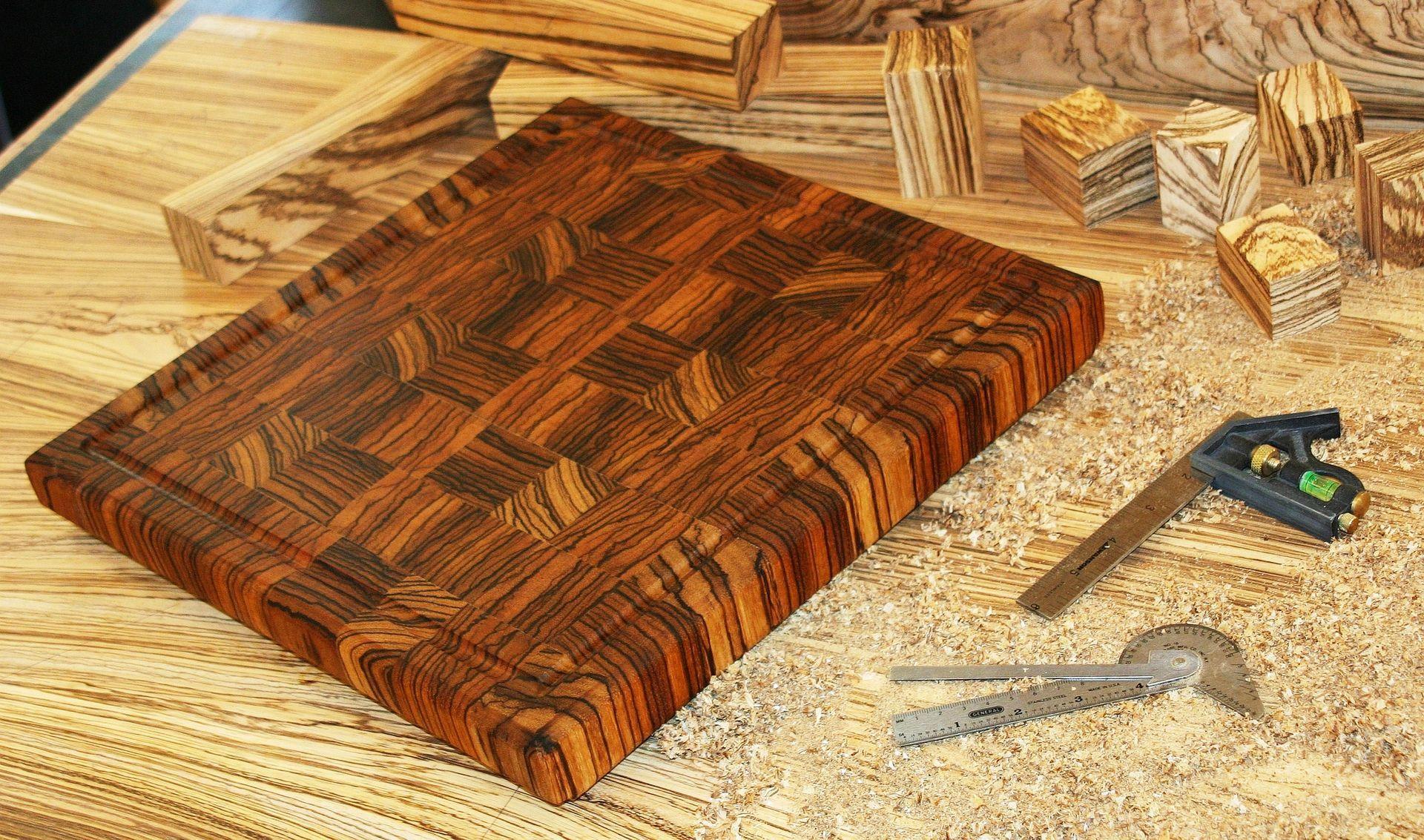 Custom Made Zebrawood End Grain Cutting Board