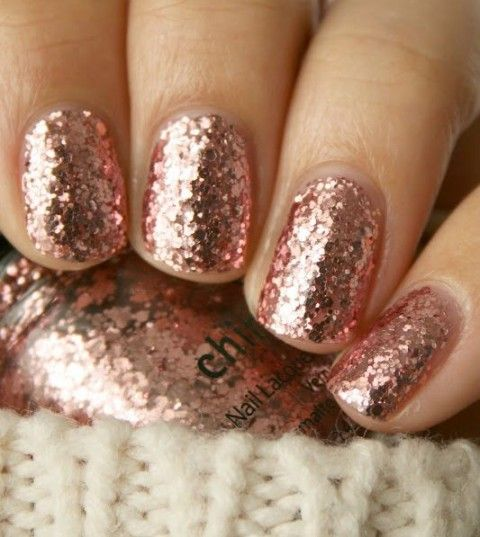 China Glaze Rose Gold Sparkle Add A Little Glam To The Traditional Tones Of Nail Colors On Your Wedding Day When Light Catches Glitter