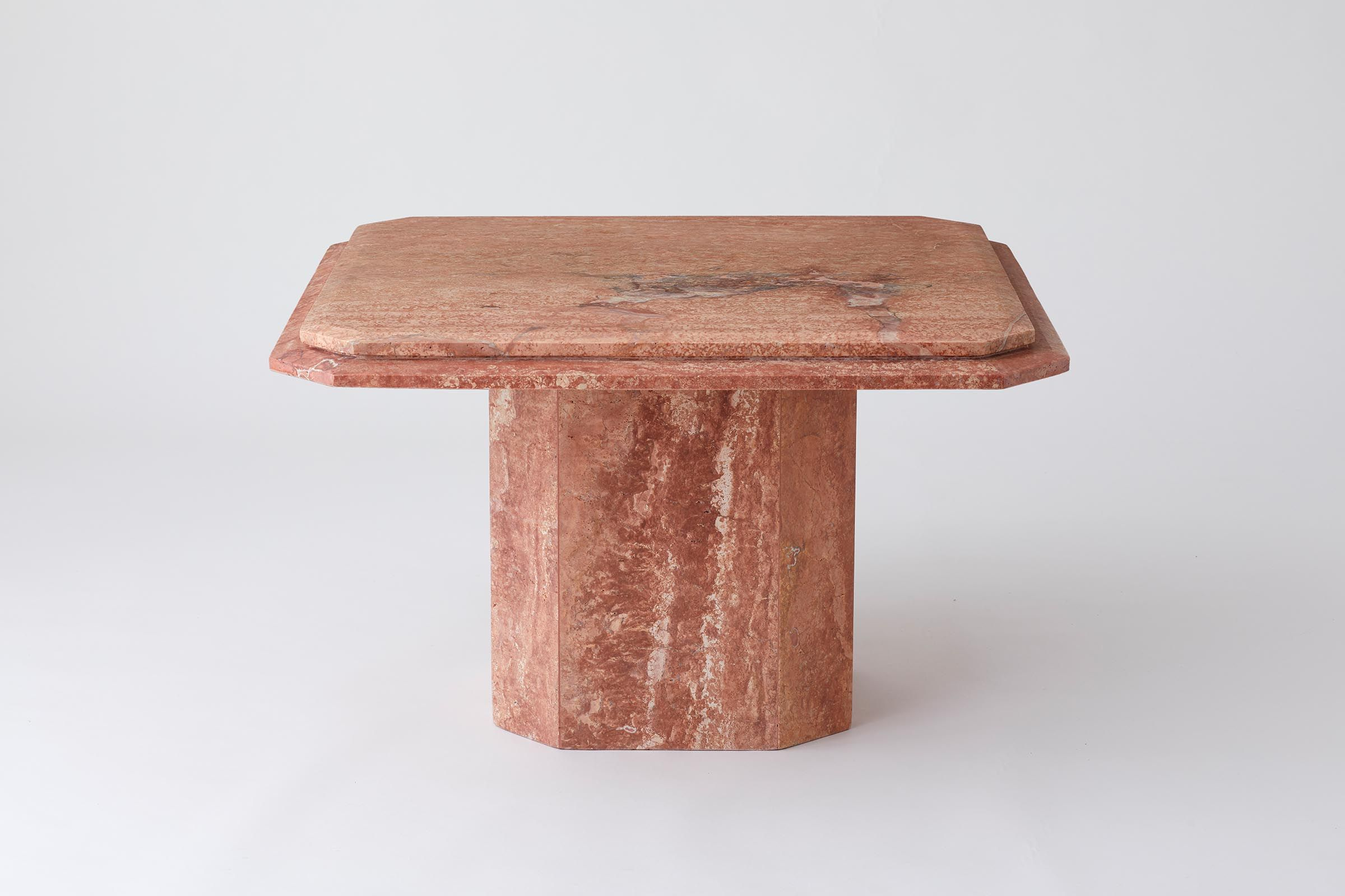Vintage 1970 S Salmon Coloured Marble Coffee Table In 2020 Salmon Color Table Vintage Table