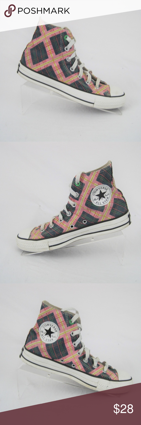 d7488c5815c2 Converse Chuck Taylor All Stars Plaid Hi Tops Converse All Stars Chuck  Taylors Hi Tops Men s Size 8 Women s Size 6 Plaid Lace Ups Excellent  Pre-Owned ...