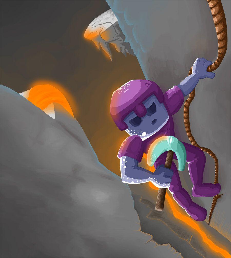 Cave by Minecraft fan art