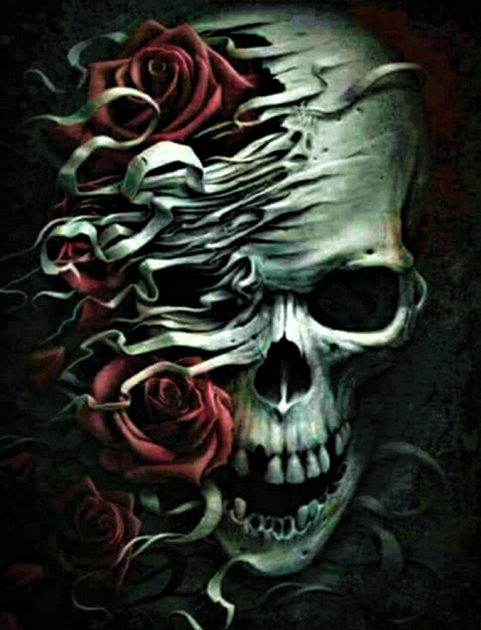 Skull Roses In 2019 Skull Sketch Skull Rose Tattoos