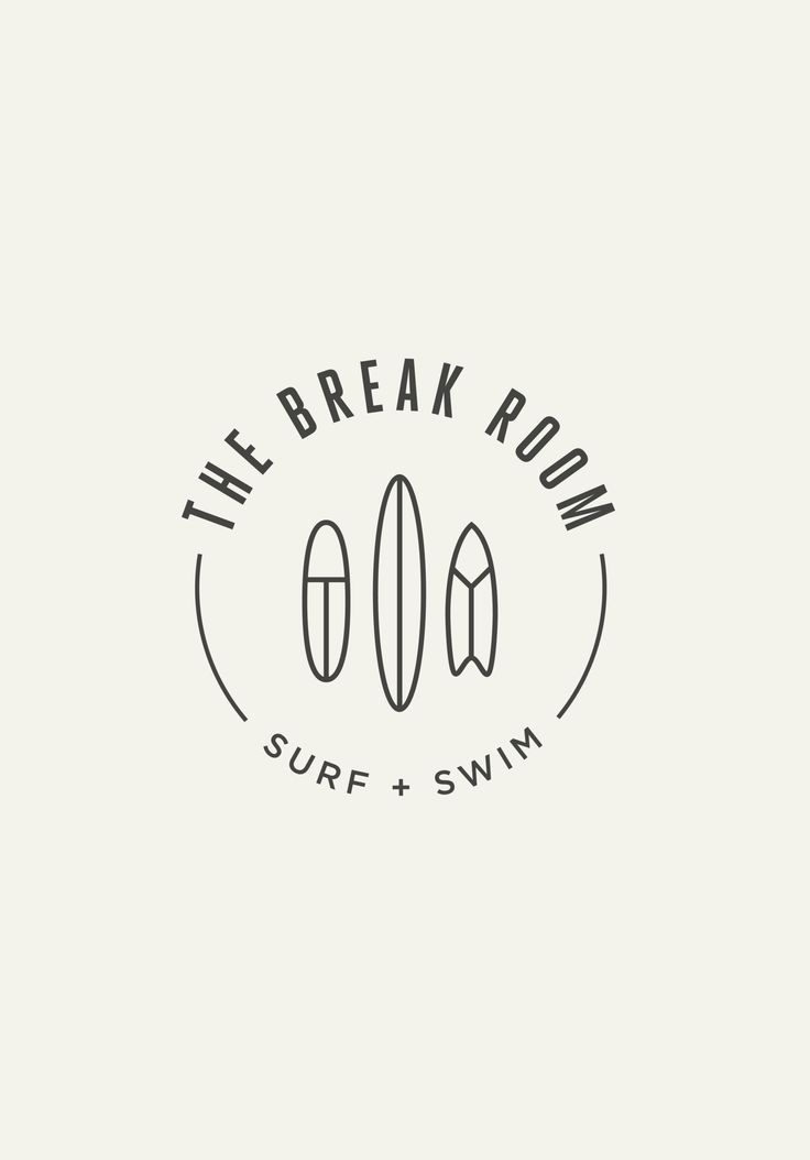 simple + clean | logo surf shop line art drawing line drawing san serif font rou...