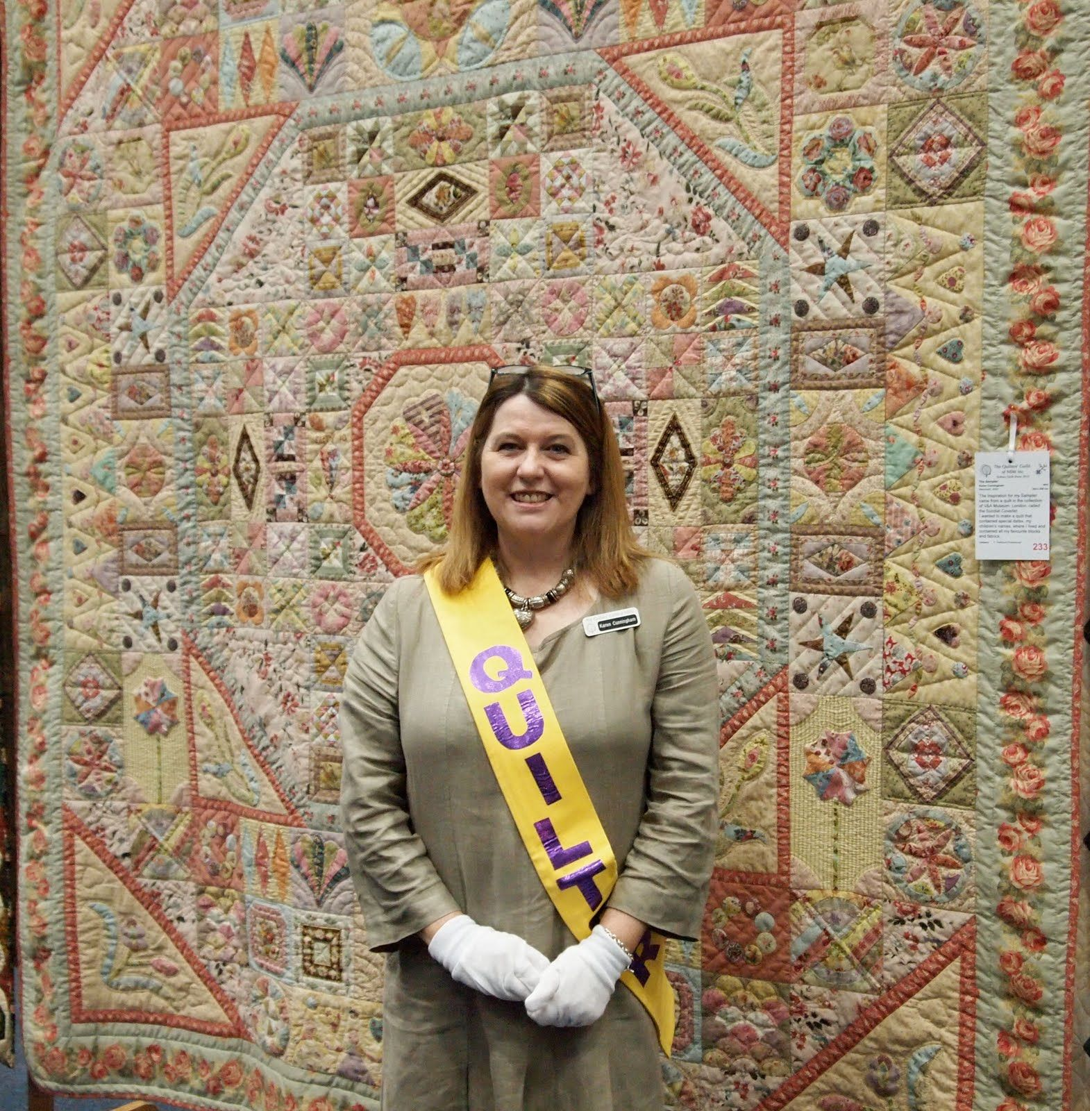 Patchwork On Stonleigh: Sydney quilt show, Karen Cunningham with ... : karen quilt - Adamdwight.com