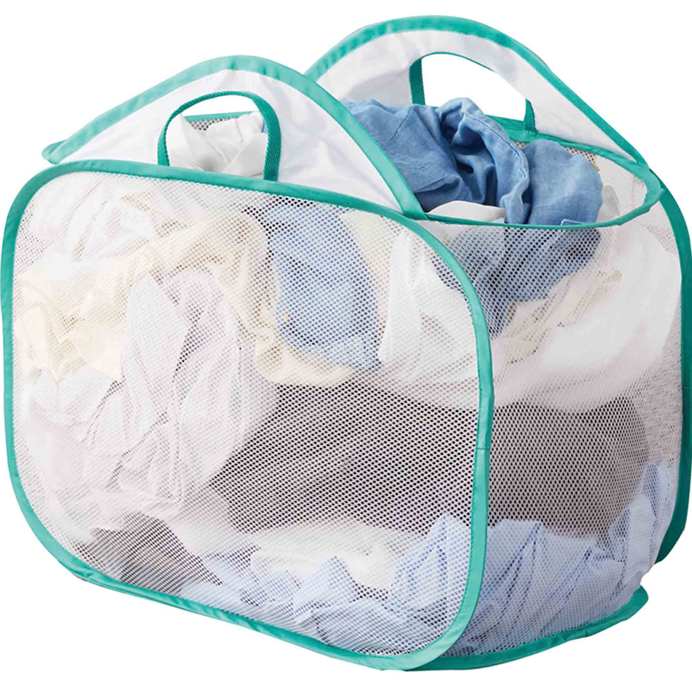 Mainstays White Mesh Pop Up Laundry Basket Walmart Com In 2020