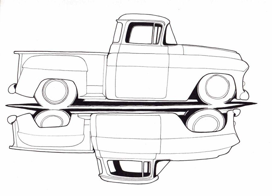 lifted truck drawings old chevy truck drawings trucks pinterest drawings