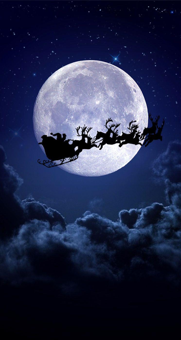 Christmas night moon Wallpaper Wallpaper iphone