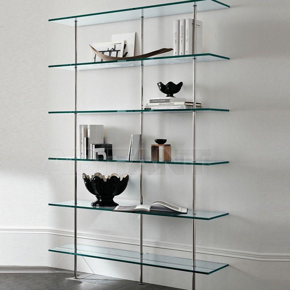 Tonelli Trasparenza Glass Bookshelf 4 Sizes Glass Bookshelves