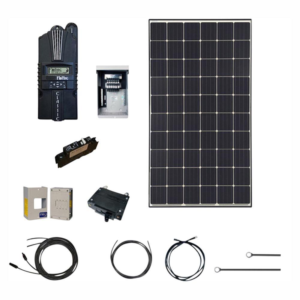 Renogy 4500 Watt 48 Volt Monocrystalline Solar Cabin Kit For Off Grid Solar System Kit Cabin4500d The Home Depot Solar System Kit Solar Kit Off Grid Solar