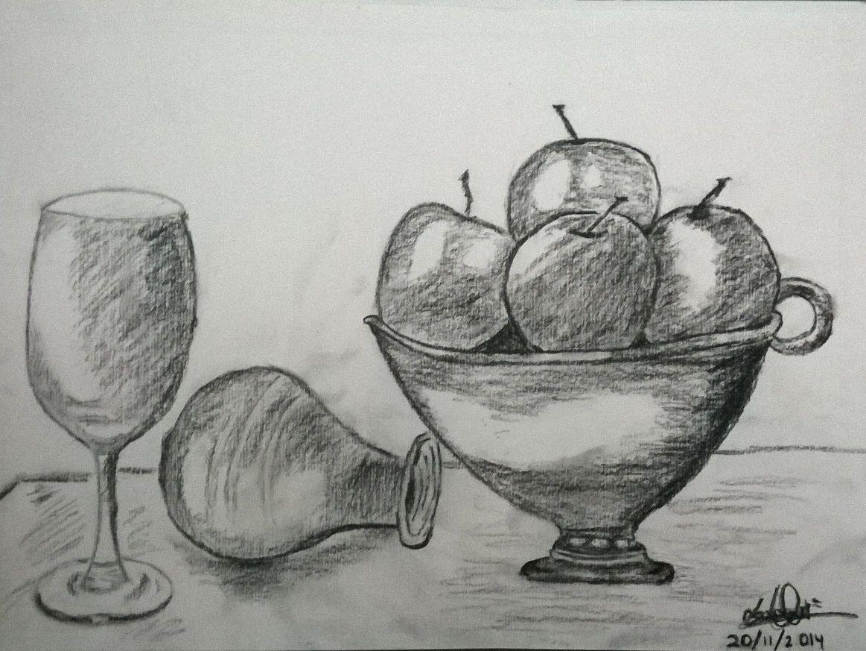 Dibujo De Bodegón, He Aprendido A Darle Profundidad Y