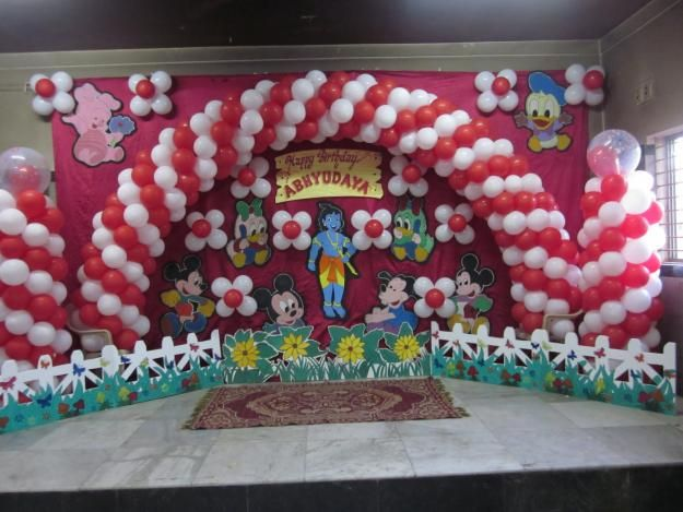 Balloon Decoration For Birthday Party At Home Decoration Natural Decorations In Image List Top Decoration Favorites