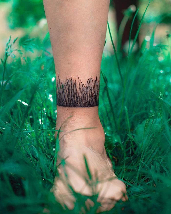 Kristenmakestattoos I Really Like The Muted Colors: Getting A Tattoo Of Grass On Its Own May Seem Like A