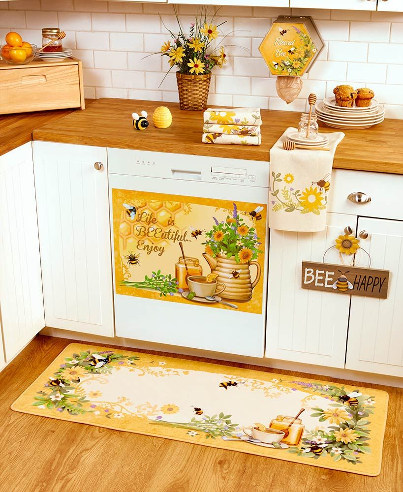 Honey Bee Kitchen Decor Collection #kitchencollection