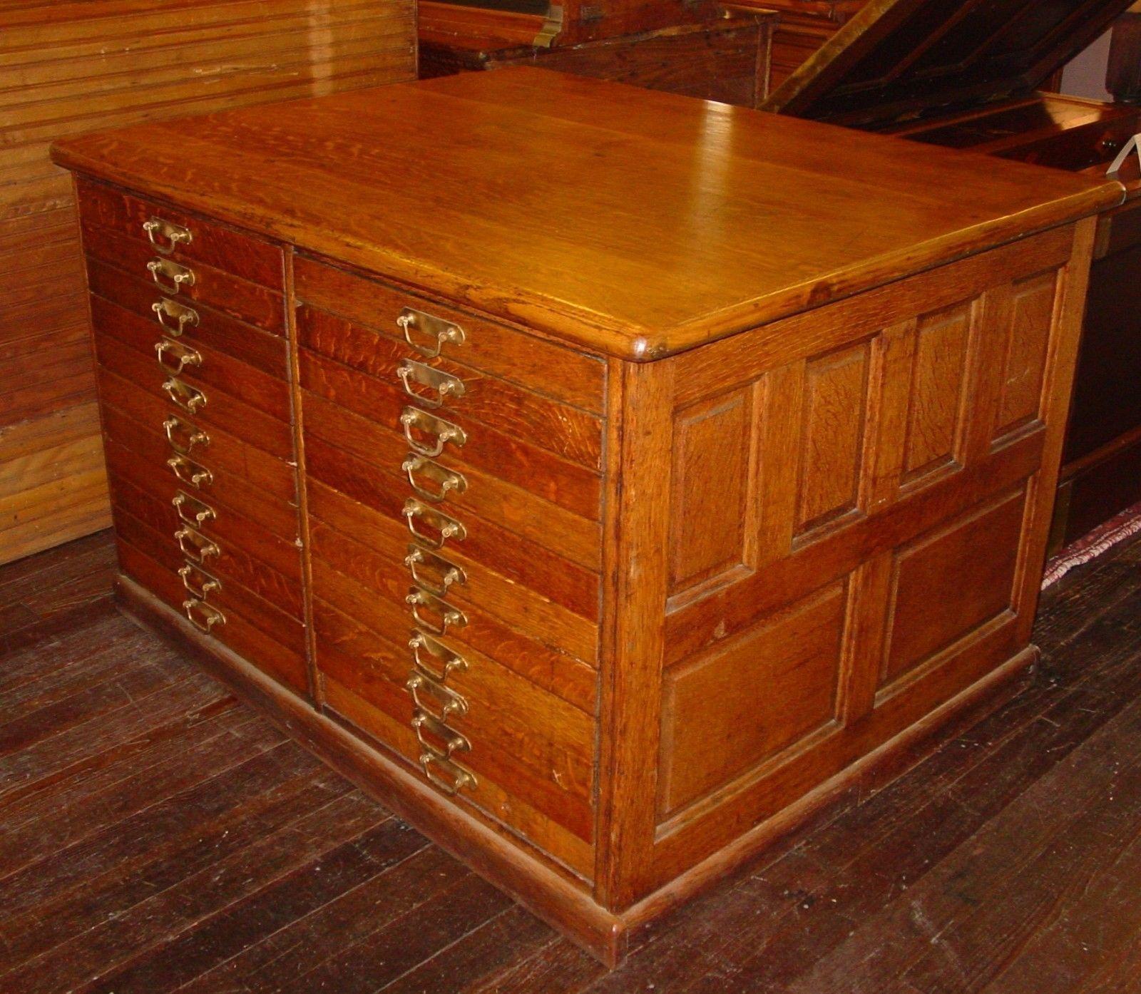 Best Quartered Quarter Sawn Oak 44 Drawer Partners File Work 400 x 300