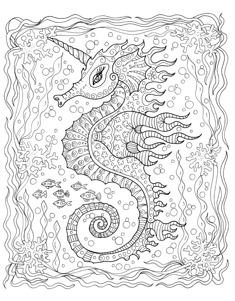 Zendoodle Coloring Under The Sea Coloring Coloring Pages Adult