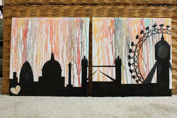 Skyline Canvas wax melt by SpiltInk on Etsy, $30.00