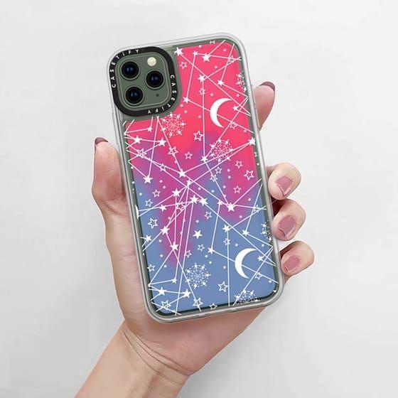iPhone 11 Pro Max Case Sun moon stars white galaxy by